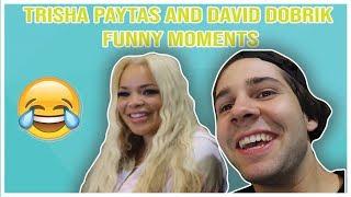 TRISHA PAYTAS AND DAVID DOBRIK FUNNY MOMENTS (From Davids Vlogs 2018)