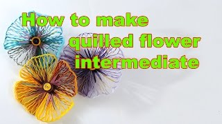 How to make quilled flower intermediate