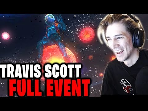 xQc Reacts to the Travis Scott Fortnite Concert! | Astronomical Full Event! | xQcOW