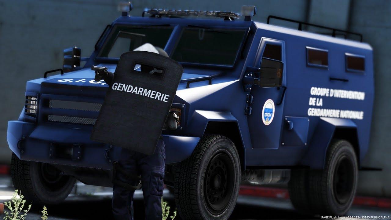 gta-lspdfr  groupe d u0026 39 intervention de la gendarmerie nationale - gign  125