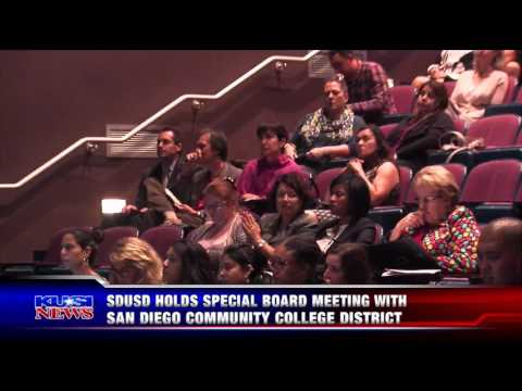 KUSI-SD: SDUSD Holds Special Board Meeting with San Diego Community College District