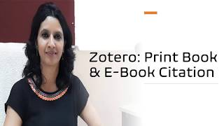 Zotero: Print Book / Chapter and E-book/Chapter Citation and Reference Generation in Vancouver Style
