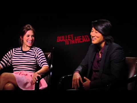 BULLET TO THE HEAD Cast Interviews Sung Kang & Sarah Shahi ...