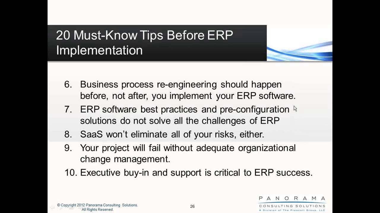 20 Must Know Tips Before ERP Implementation