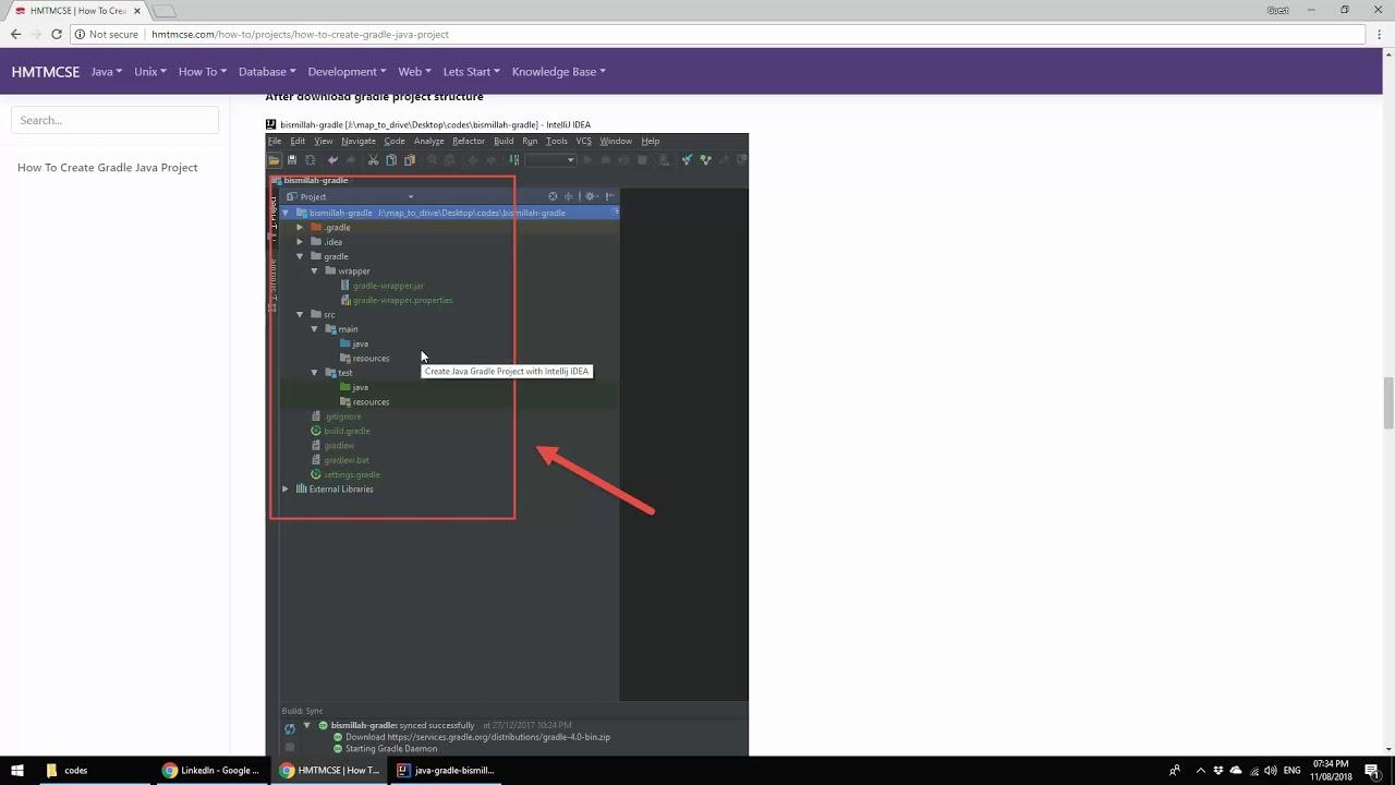 Java Gradle Project Using IntelliJ IDEA