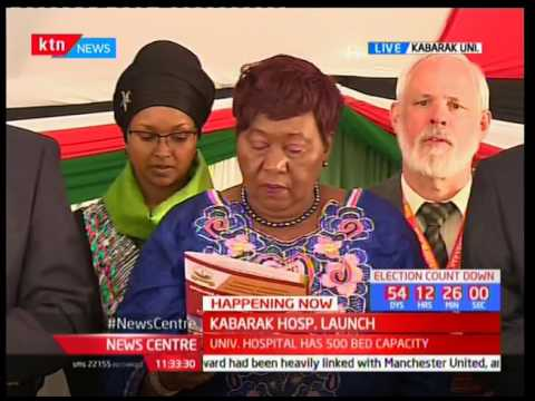 Kabarak Hospital Sh45B Referral Hospital ground breaking pt 1