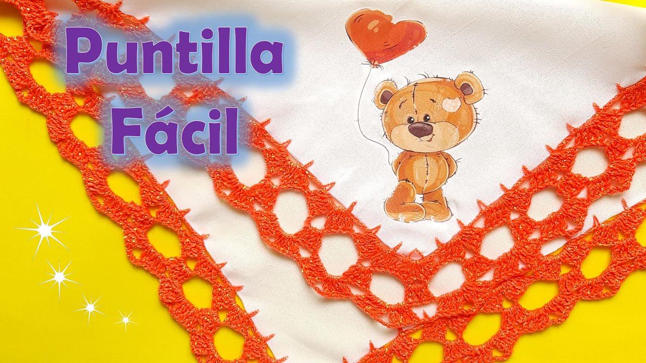 Puntilla FÁCIL y RÁPIDA a Crochet + Puntilla con Marías