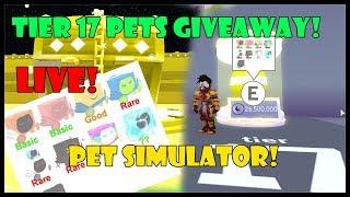 *LIVE* Cyborgs! 🐾 Pet Simulator! TIER 17 PETS GIVEAWAY - Roblox