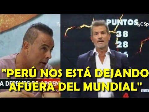"""Diego Díaz y Lunati calientes por empate con Perú """"Desesperante Argentina, fuera del mundial"""""""
