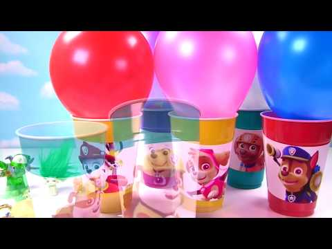 PAW PATROL Toy Surprise Balloon Cups! Limited Edition Metallic Figures, Blind Bags & Mashems!