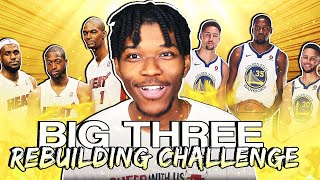 i built a new big 3 in this rebuilding challenge | nba 2k20