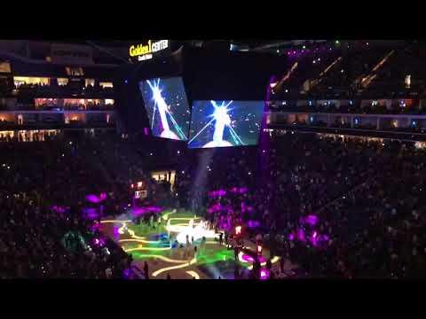 Lil Jon and Nu salt laser sacramento Kings  first game 2017 season