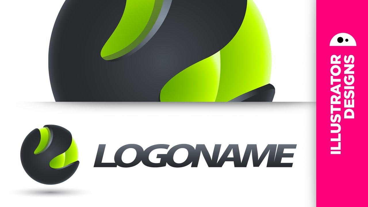3D logo design (Illustrator CS5) - YouTube