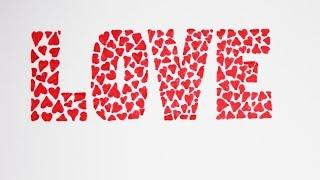 Уроки рисования.  ИДЕЯ надписи LOVE за 5 минут  | День святого Валентина | Art School