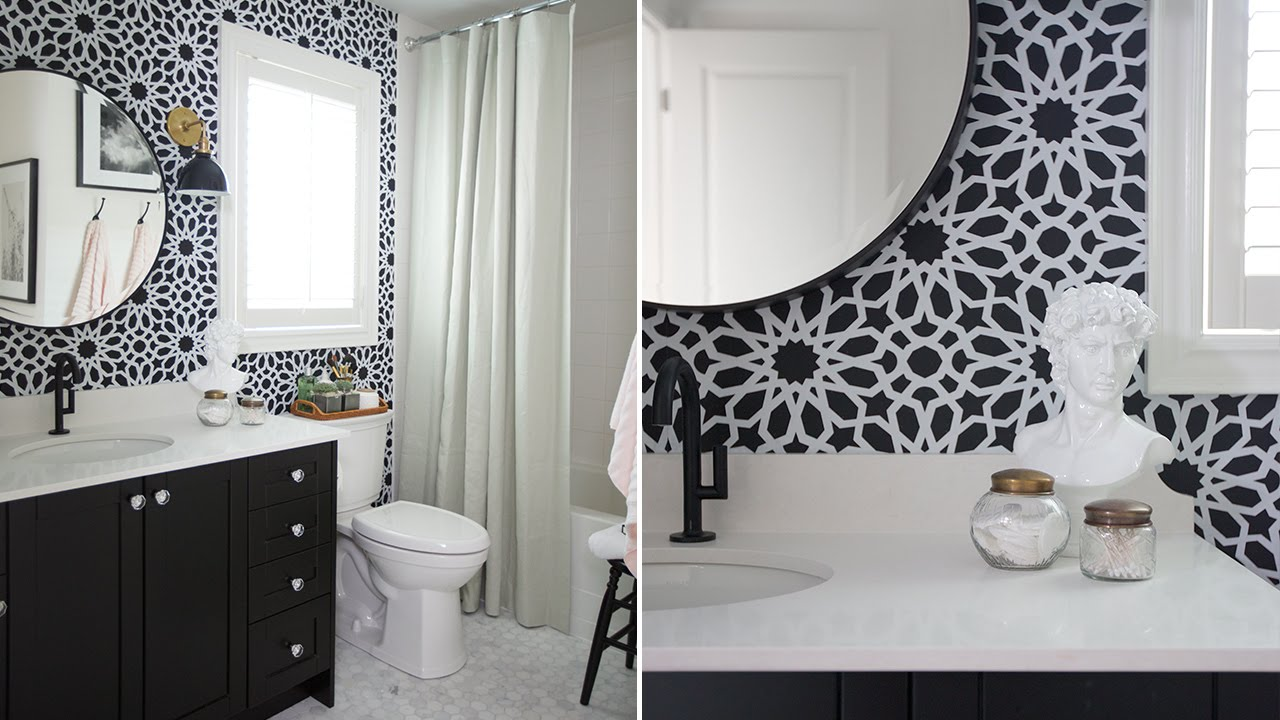 Interior design a stylish bathroom makeover on a budget for Bathroom interior design on a budget