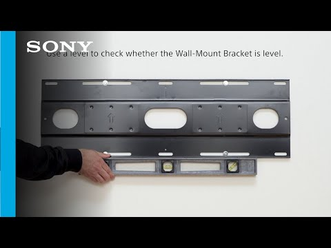 Setup Guide | How to wall mount your Sony BRAVIA OLED MASTER SERIES A9G TV with the Sony mount.
