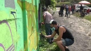 Kieleccy graficiarze malują osiedle Uroczysko