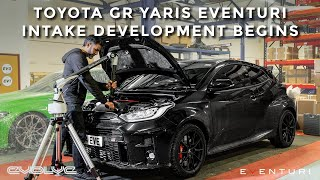 With running in and stock dyno runs completed it was time for the gr yaris to go under knife let bilal get his hands on it, pulling intake system...
