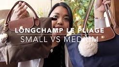 Longchamp Le Pliage Bag Comparison   Small VS Medium