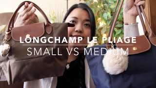 Longchamp Le Pliage Bag Comparison | Small VS Medium - YouTube