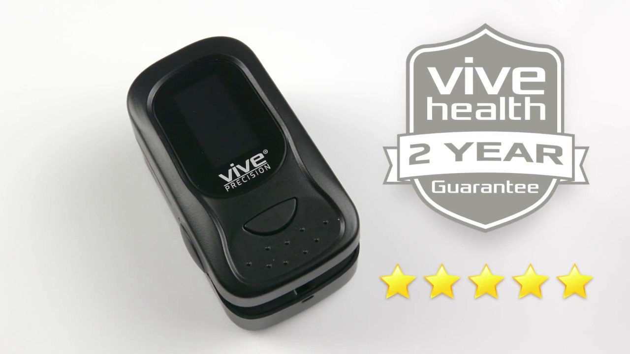Pulse Oximeter by Vive Precision - SpO2 Device for Blood Oxygen Saturation  Level Reading and Pulse