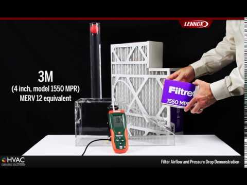 Filter Airflow and Pressure Drop Demo