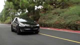 Tesla Model X SUV Test drive