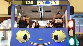 LoveStar have fun playing at the TAYO bus hotel | Nursery rhymes & kids songs | Pretend play