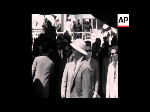 CAN 195 NASSER AND KHRUSHCHEV VISIT ASWAN DAM CONSTRUCTION SITE