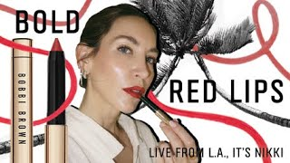 BOLD RED LIPS | Live From L.A., It's Nikki | Episode 3 | Bobbi Brown Cosmetics
