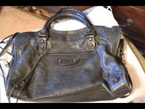 96dd6d2f51 Maintaining your Balenciaga Leather Purse ~ Wear & Tear Bag Series - YouTube