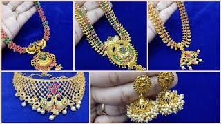 Latest Imitation Necklace from Rs300   Bridal Jewellery Set   Jadai Alangaram  