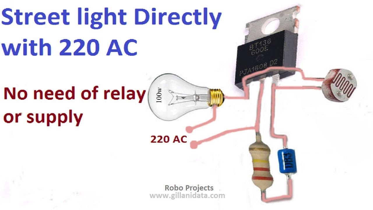 Street Light Automatic ON/OFF directly with 220v AC no need of any Relay