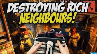 DESTROYING my RICH NEIGHBOURS! - Rust Co-op Survival Gameplay