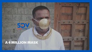 Man dons pure gold face mask bling worth Sh 4.1 Million