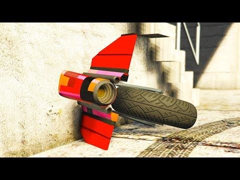 Dieses GTA Online Motorrad steckt in einer Wand!