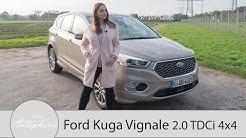 2017 Ford Kuga VIGNALE 2.0 TDCi 4x4 Fahrbericht / SUV mit intelligentem Allradantrieb - Autophorie