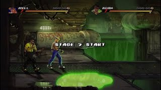 Streets of Rage 4 - Story mode(MANIA) 2 players co-op part 2
