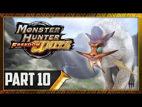 Let's Play Monster Hunter Freedom Unite Part 10 - Urgent Quest BLANGONGA