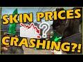 CSGO SKIN PRICE CHANGES AFTER THE GAMBLING SCANDAL - HUGE MARKET CRASH?!