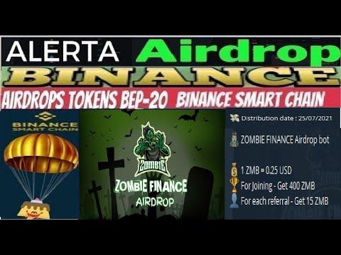 【Airdrop ZOMBIE FINANCE】Ganhe 100$ em ZMB   400 fazer as Tarefas   15 por Referência   Renda Extra