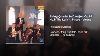 String Quartet in D major, Op.64 No.5 The Lark 4. Finale - Vivace