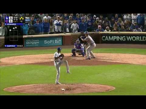 Yu Darvish RBI Walk vs Cubs | Dodgers vs Cubs Game 3 NLCS