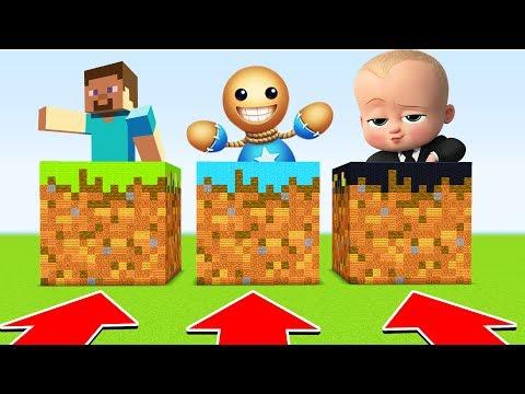 Minecraft :DO NOT CHOOSE THE WRONG DIRT BLOCK(BossBaby,KickTheBuddy,Minecraft(XboxOne/PE/MCPE)