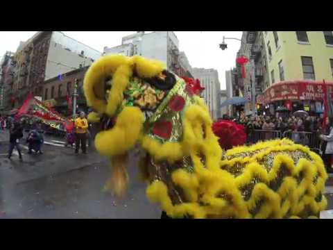 ⁴ᴷ NYC Chinatown 2018 Chinese Lunar New Year Parade in Full @ Mott Street