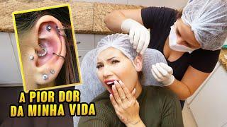 COLOQUEI VÁRIOS PIERCINGS NO MESMO DIA!!!