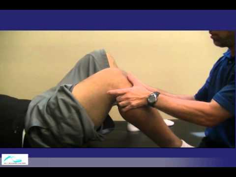 Acute knee injury in a football player
