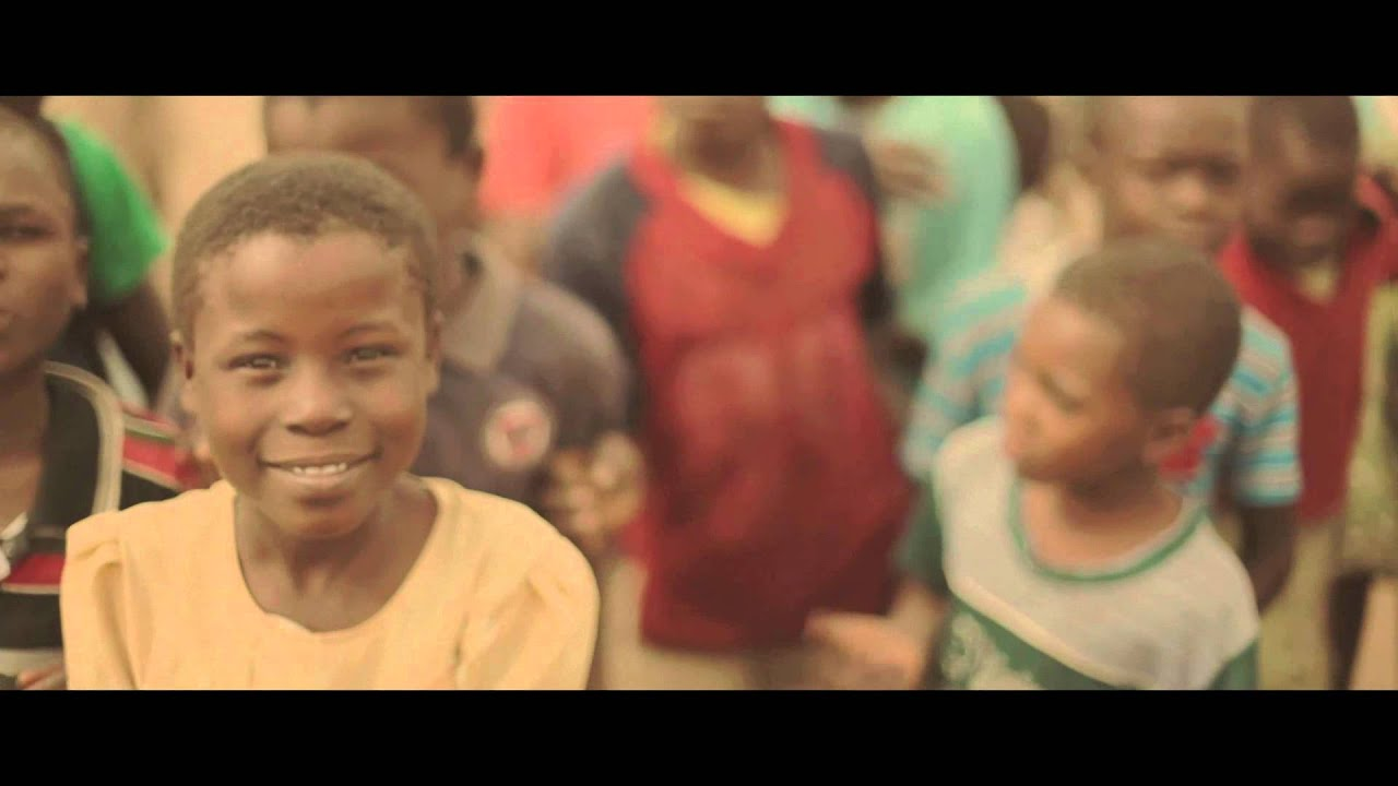Smiling and happy african children