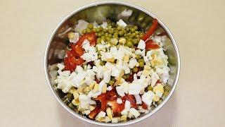 Свежий салат с белокочанной капустой