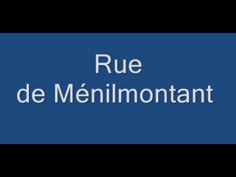 Rue de Ménilmontant Paris Arrondissement  20e